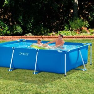 Image Is Loading Garden Pool Above Ground Swimming Rectangular Frame Small