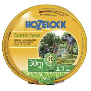 Hozelock-30m-Starter-Garden-Hose-Pipe-Maxi-Plus-Hard-Wearing-Weatherproof-12-5mm