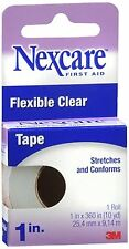 Nexcare Flexible Clear Tape 1 Inch 10 Yards