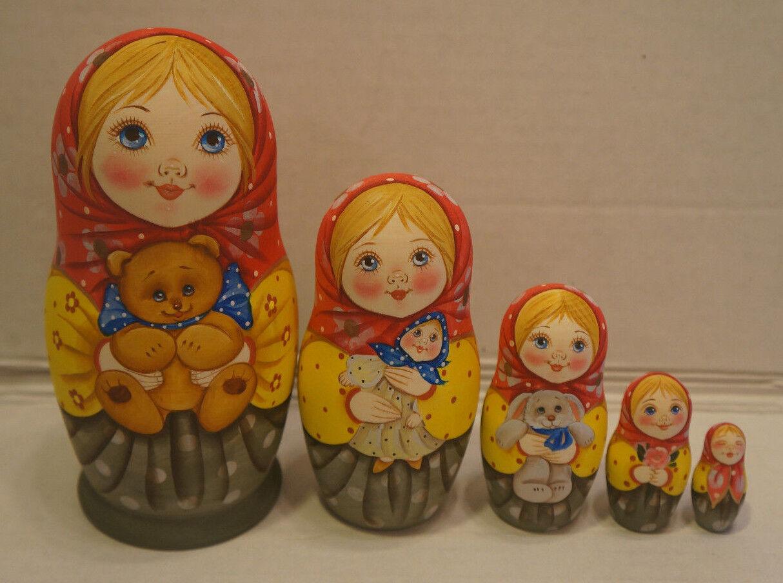 Russe Matriochka-En bois poupées russes - 5 pieces unique à Couleurier-Lot  4