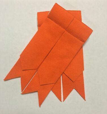 Calzino Scozzese Kilt Lampeggia Plain Arancione Flash Per Kilt Highland Kilt Lampeggia-mostra Il Titolo Originale Ampia Selezione;