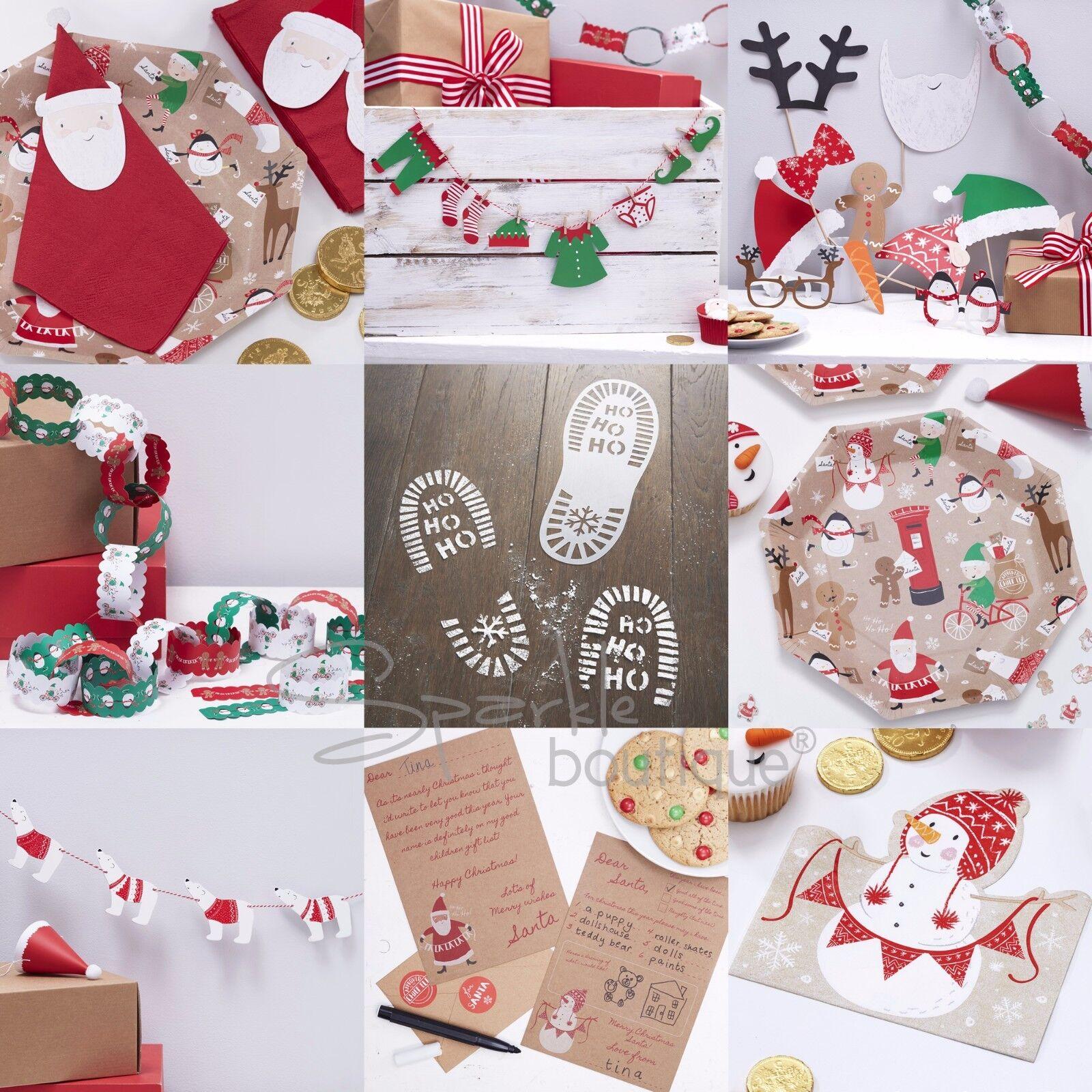 63aea9da1eab Ginger Ray Christmas Family Photo Booth Props Kit - Santa and ...