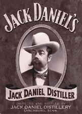 "TARGA VINTAGE ""1875 JACK DANIEL'S"" PUBBLICITA', OLD ADVERTISING, POSTER, PLATE"