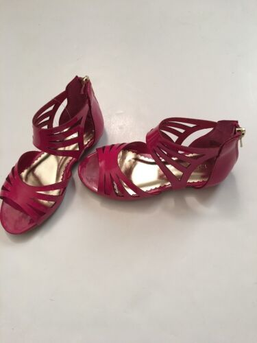 Nine West Little Girls Gladiator Sandal Size 7 8 9 10 11 12 Fuchsia Pink