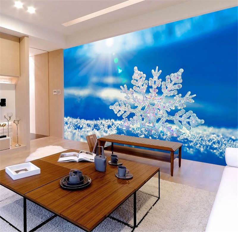 Snowflake Ball Sunshine Full Wall Wall Wall Mural Photo Wallpaper Print Kids Home 3D Decal d6a1a6