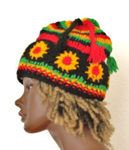 Rasta Häckel Mütze Wolle woolen Dreadlock hat Crochet Reggae