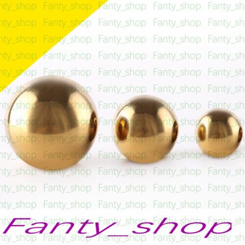 10pc Golden STAINLESS STEEL SPHERE HOLLOW BALL HOME GARDEN DECORAT 42MM #V59 CH
