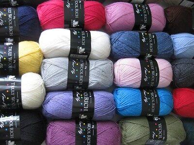 Cygnet Yarns 50g Truly Wool Rich 4ply sock yarn VARIOUS SHADES 75% wool