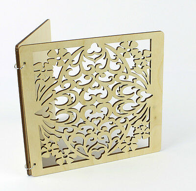 Laser Cut Wood Invitation card / Wedding invitation / Baby Shower /Save The Date