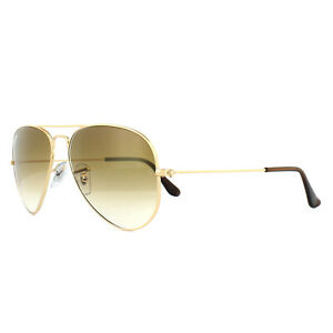 5d7dce1ed2b86 Ray-Ban Sunglasses Aviator 3025 001 51 Gold Brown Gradient Small ...