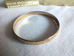 fb5260990b314 Details about Collectible Bangle Bracelet Gold Tone Textured 3/8