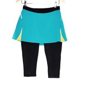 Lucy-Skirt-Capri-Leggings-Womens-Size-Small-Blue-Black-Strech-Workout-Gym-Yoga