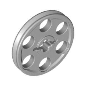 Lego-9x-Genuine-Technic-Medium-Stone-Grey-Pulleys-Reels-Wheels-4185-4494222-NEW