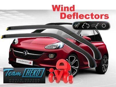 Front Wind Deflectors for Vauxhall ADAM 2012-2018 3-Door Model Tinted