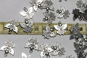 19mm-Tibetan-Style-Pendant-Angel-Watching-Over-Me-Charm-Ant-Silver-25pcs-RS77