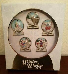Disney-Parks-Winter-Wishes-Snowglobe-Pin-Set-Limited-Edition-1000-Mickey-Minnie