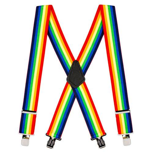 Rainbow Gay Pride Adjustable Suspender Braces Fancy Dress Festival Disco Party