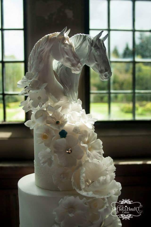 Magnifique Cheval Head Cake Topper mariage Country Western Fête Célébration