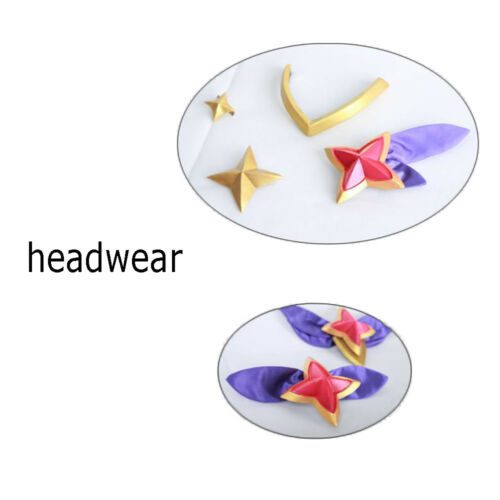 League of Legends LOL Star Guardian Ahri Cosplay Costume with Head Accessories