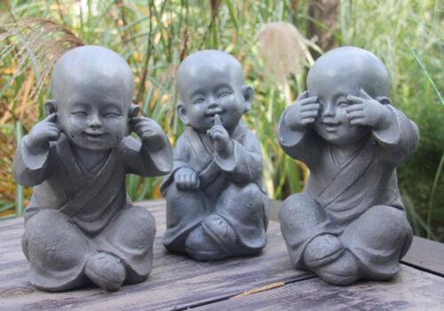 3er Set Buddha nichts hören* nichts sehen* nichts sagen** Deko Statuen Skulptur*