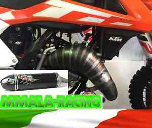 Details about KTM SX 125 / 144 2016/17 SCALVINI exhaust pipe + full carbon  silencer ***