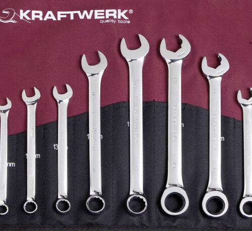 Double Ratschenschlüssel Doppel GARI Maul - Ringschlüssel Set KRAFTWERK 99058