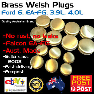 Brass-Welch-Welsh-Freeze-Core-Plug-Set-Gallery-Kit-Fits-Ford-Falcon-6-4-0-EA-FG