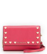 619596ab2a07 item 4 NWT Michael Kors Ruby Heart-Stud Clutch Crossbody Leather Bag Ultra  Pink w Gold -NWT Michael Kors Ruby Heart-Stud Clutch Crossbody Leather Bag  Ultra ...