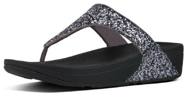 a177a7f32e14f7 Buy FitFlop Women s Glitterball Toe - Post Sandals Pewter 5 online ...