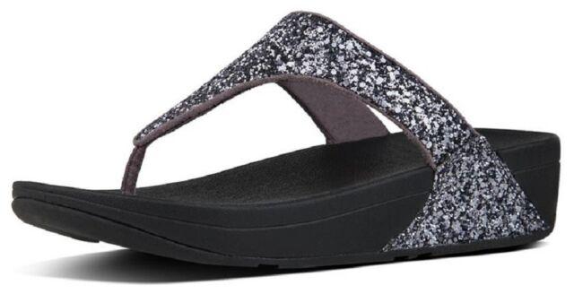 b806711f5 Buy FitFlop Women s Glitterball Toe - Post Sandals Pewter 5 online ...