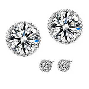 Image Is Loading Flawless 2 Carat Cz Earrings Aaaaa Quality Brilliant