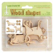 Leane Creatief  Wooden Shapes Ornaments BIRDCAGES  10pcs 71.1857 Wood