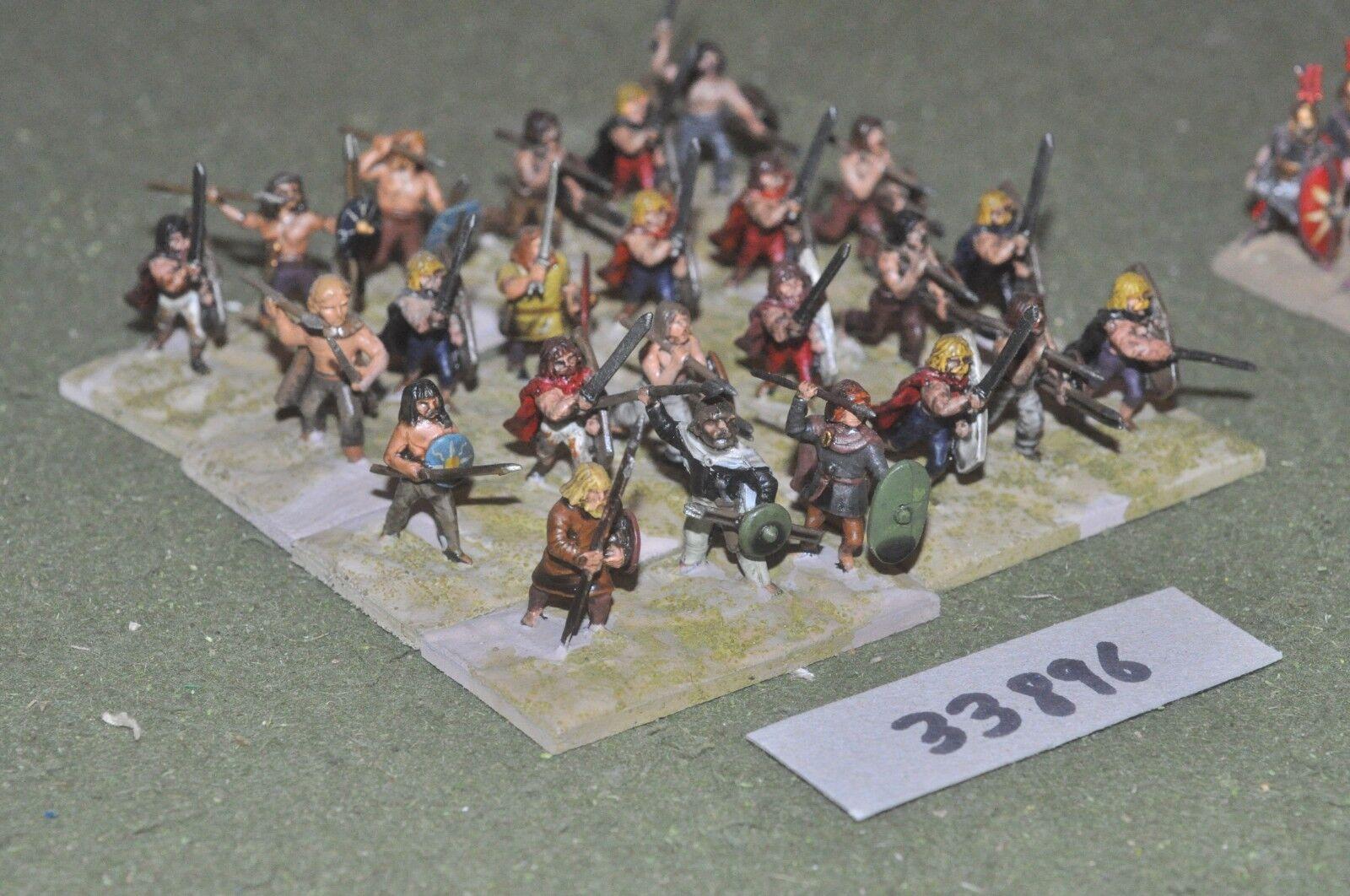 25mm roman era   gaul - warriors 24 figures - inf (33896)