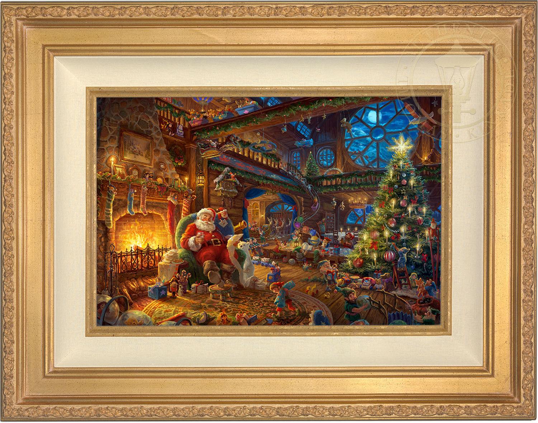 Thomas Kinkade Santa's Atelier 12 X 18 Limitierte Edition S n Leinen