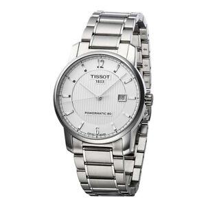 Tissot-Swiss-Made-T-Classic-Titanium-Automatic-Silver-Dial-Men-039-s-Watch