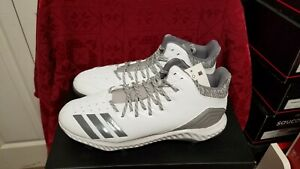 new product 8f2f5 affe7 Image is loading ADIDAS-MENS-ICON-BOUNCE-MID-BASEBALL-CLEATS-SIZE-
