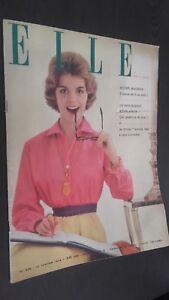 Revista Elle N º 629 Revista Semanal Janvier 1958 ABE