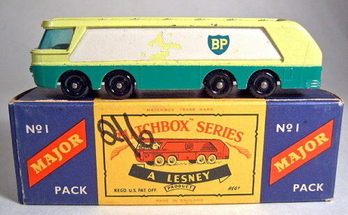 Matchbox Major Pack m1b 'BP' Petrol Tanker with box