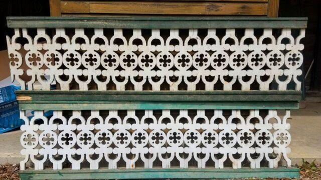 15 Ft Of Victorian Fretwork Porch Rail Architectural & Garden