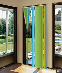Plastic Door Strips >> Details About Door Strip Curtain Plastic Strips Fly Insect Stop Striped Blind Screen 90x200