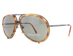 NEW-Porsche-Design-P8613-D-64mm-Aviator-Dark-Gun-Gray-Sunglasses