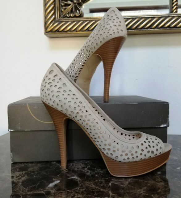 Enzo Angiolini Sully Natural Suede Heels New Womens Shoes Size 8.5 M NWB