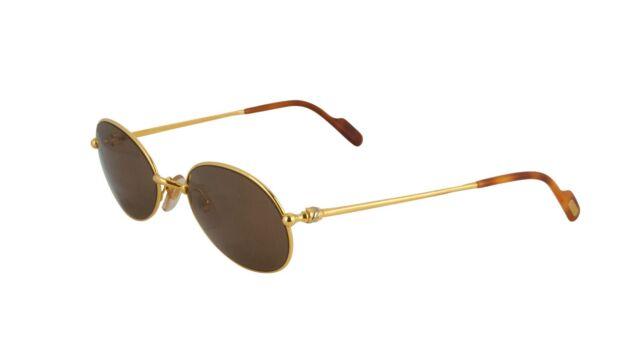 bed96b7e65 Cartier Oval Sunglasses T8100370 Gold Frame Brown Lens France for ...