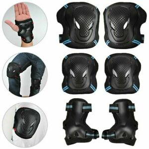 Elbow Wrist Knee Pads Sport Safety Protective Gear Guard for Kids Adult Skate UK