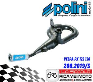 MARMITTA-POLINI-ESPANSIONE-VESPA-PX-125-150-177-CC-CON-SILENZIATORE-IN-ALLUMINIO