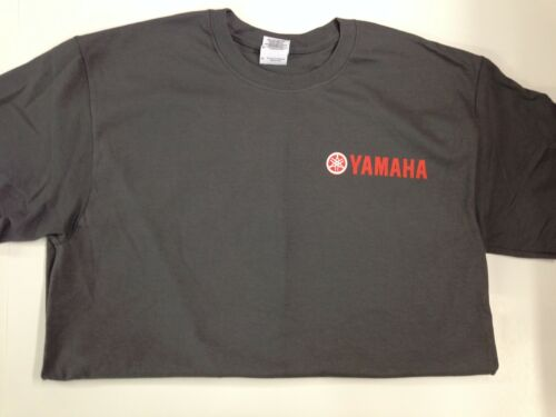 NEW Yamaha Short Sleeve TShirt Charcoal, Red Yamaha Logo