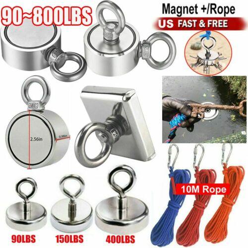 // Rope Fishing Magnet Neodymium Super Pull Force Hook Retrieving Treasure Hunt