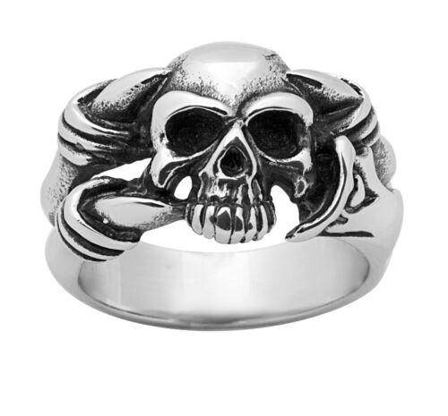 Stainless Steel 316L Skull Ring Sizes 7-11 SSR241