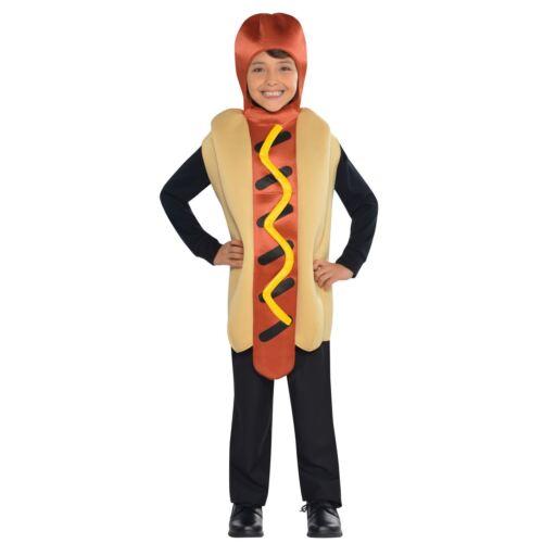 BIG Hot Dog Food Costume Bambini Bambine 6-8 anni NOVITA /'Salsiccia Wiener