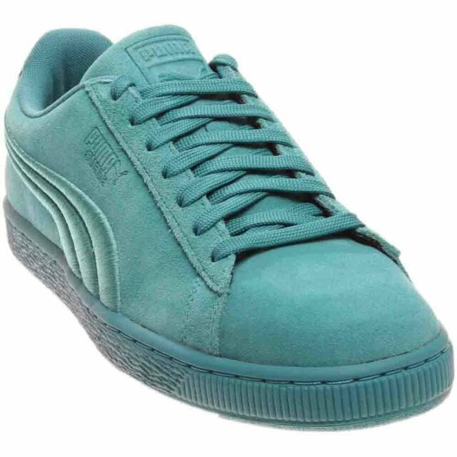 sale retailer 29041 2e37e PUMA Men's Suede Classic Badge SNEAKERS Sz 9 Navigate Blue Green 362594 12